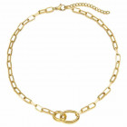 Halskette mit ovalen Gliedern