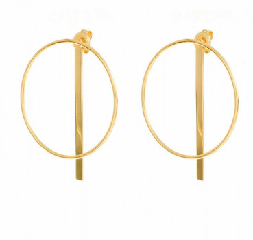 Gold Circle Ear Hangers