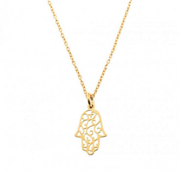 Gold Fatimas Hand Necklace