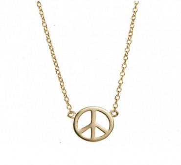 Gold-plated Peace Pendant Necklace