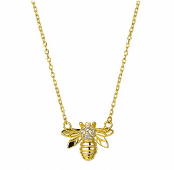 Gold Necklace - Bee Pendant