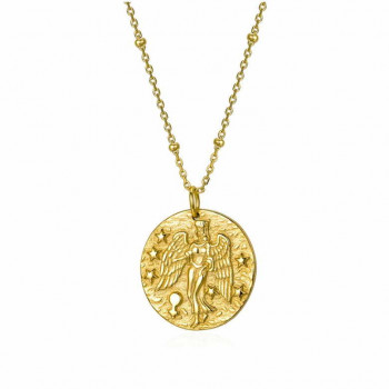 Virgo Sign Gold Necklace