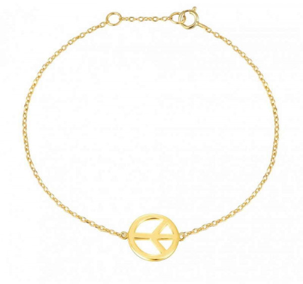 Gold Armband Friedens Charm