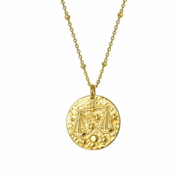 Libra Sign Gold Necklace